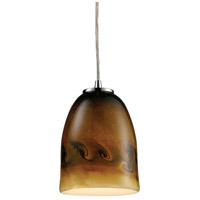 ELK Lighting Cosmos 1 Light Pendant in Satin Nickel 10217/1JUP