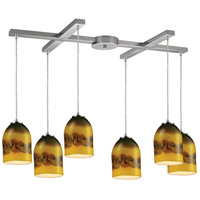ELK Lighting Cosmos 6 Light Pendant in Satin Nickel 10217/6CMT