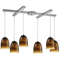 ELK Lighting Cosmos 6 Light Pendant in Satin Nickel 10217/6JUP photo thumbnail