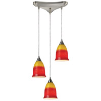ELK Lighting Horizon 3 Light Pendant in Satin Nickel 10218/3FIR