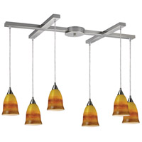 ELK Lighting Horizon 6 Light Pendant in Satin Nickel 10218/6ERH