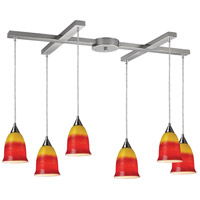 ELK Lighting Horizon 6 Light Pendant in Satin Nickel 10218/6FIR