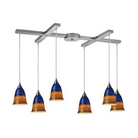 ELK Lighting Horizon 6 Light Pendant in Satin Nickel 10218/6WTR