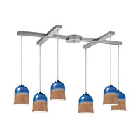 ELK Lighting Earthflows 6 Light Pendant in Satin Nickel 10219/6DS