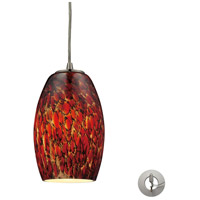 ELK 10220/1EMB-LA Maui 1 Light 5 inch Satin Nickel Pendant Ceiling Light in Ember, Recessed Adapter Kit, Incandescent