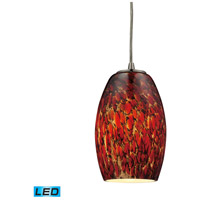 ELK 10220/1EMB-LED Maui LED 5 inch Satin Nickel Pendant Ceiling Light in Ember, 1