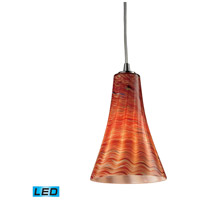 ELK Lighting Cadence 1 Light Pendant in Satin Nickel 10221/1DSK-LED