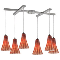 ELK Lighting Cadence 6 Light Pendant in Satin Nickel 10221/6DSK