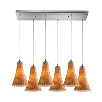 ELK Lighting Cadence 6 Light Pendant in Satin Nickel 10221/6RC-AMF