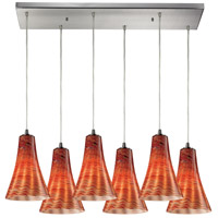 ELK Lighting Cadence 6 Light Pendant in Satin Nickel 10221/6RC-DSK