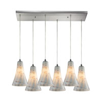 ELK Lighting Cadence 6 Light Pendant in Satin Nickel 10221/6RC-WHS