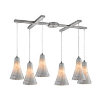 ELK Lighting Cadence 6 Light Pendant in Satin Nickel 10221/6WHS