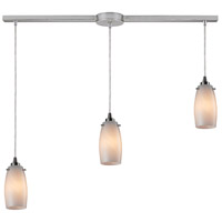 ELK 10223/3L-COC Favelita 3 Light 36 inch Satin Nickel Linear Pendant Ceiling Light in Incandescent, Linear with Recessed Adapter