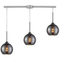 Cassandra 3 Light 36 inch Polished Chrome Pendant Ceiling Light in Chrome Glass