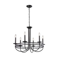 ELK Lighting Braxton 6 Light Chandelier in Aged Bronze 10241/6