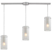 Synthesis 3 Light 36 inch Satin Nickel Pendant Ceiling Light in Frosted Clear Glass