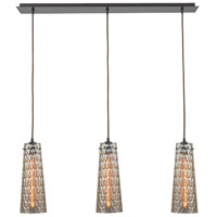 ELK 10248/3LP Jerard 3 Light 6 inch Oil Rubbed Bronze Mini Pendant Ceiling Light in Linear, Linear