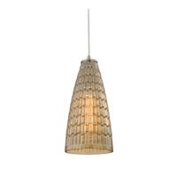 ELK 10249/1 Mickley 1 Light 6 inch Satin Nickel Pendant Ceiling Light
