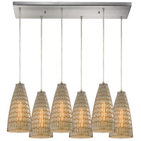 Mickley 6 Light 30 inch Satin Nickel Pendant Ceiling Light
