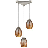 Venture 3 Light 10 inch Satin Nickel Pendant Ceiling Light