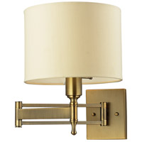 ELK Lighting Pembroke 1 Light Swing Arm Wall Lamp in Antique Brass 10260/1