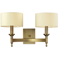 Pembroke 2 Light 19 inch Antique Brass Wall Sconce Wall Light