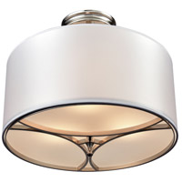 Pembroke 3 Light 16 inch Polished Nickel Semi Flush Mount Ceiling Light