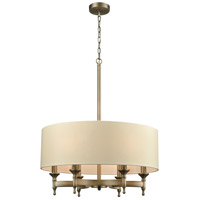ELK 10264/6 Pembroke 6 Light 24 inch Brushed Antique Brass Chandelier Ceiling Light