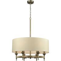 ELK 10264/6 Pembroke 6 Light 24 inch Brushed Antique Brass Chandelier Ceiling Light