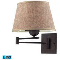 ELK Lighting Swingarms 1 Light Swingarm Sconce in Aged Bronze 10291/1-LED