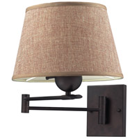 ELK Lighting Swingarms 1 Light Swing Arm Wall Lamp in Aged Bronze 10291/1