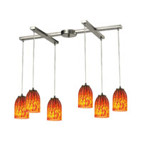 ELK Lighting Caliente 6 Light Chandelier in Satin Nickel 10335/6