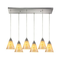 ELK Lighting Magellan 6 Light Chandelier in Satin Nickel 10337/6RC
