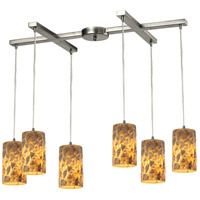 ELK Lighting Rocklidge 6 Light Chandelier in Satin Nickel 10339/6