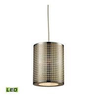 ELK Lighting Lightgrid LED Pendant in Satin Nickel 10340/1-LED