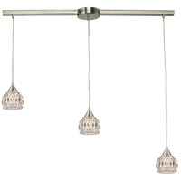ELK 10342/3L Kersey 3 Light 5 inch Satin Nickel Mini Pendant Ceiling Light in Linear with Recessed Adapter, Linear