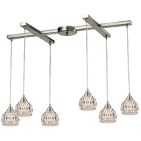 ELK Lighting Kersey 6 Light Chandelier in Satin Nickel 10342/6