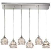 ELK Lighting Kersey 6 Light Chandelier in Satin Nickel 10342/6RC