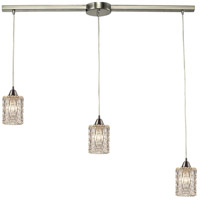 ELK 10343/3L Kersey 3 Light 5 inch Satin Nickel Mini Pendant Ceiling Light in Linear with Recessed Adapter, Linear