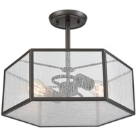 ELK 10351/2 Spencer 2 Light 14 inch Oil Rubbed Bronze Semi Flush Mount Ceiling Light