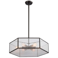 Spencer 6 Light 20 inch Oil Rubbed Bronze Pendant Ceiling Light