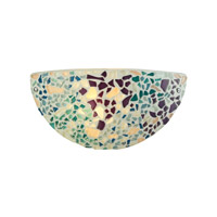 ELK Lighting Glass Mosaic 1 Light Sconce in Polished Chrome with Multicolor Glass 10371/1