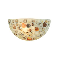 ELK Lighting Shells 1 Light Sconce in Polished Chrome with Multi Shells Shade 10380/1