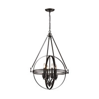 Hemispheres 4 Light 24 inch Oil Rubbed Bronze Pendant Ceiling Light