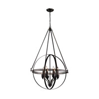Hemispheres 6 Light 32 inch Oil Rubbed Bronze Pendant Ceiling Light