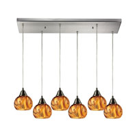 ELK Lighting Ella 6 Light Chandelier in Satin Nickel 10395/6RC