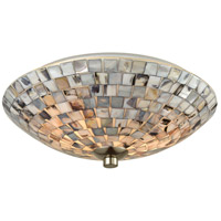 Cappa Shells 2 Light 12 inch Satin Nickel Flush Mount Ceiling Light