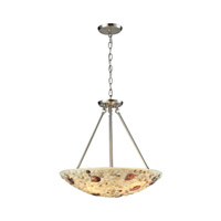 ELK Lighting Shells 4 Light Pendant in Satin Nickel with Multi Shells Shade 10413/4