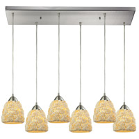 Shells 6 Light 30 inch Satin Nickel Pendant Ceiling Light