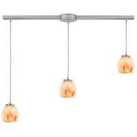 Melony 3 Light 36 inch Satin Nickel Linear Pendant Ceiling Light in Linear with Recessed Adapter